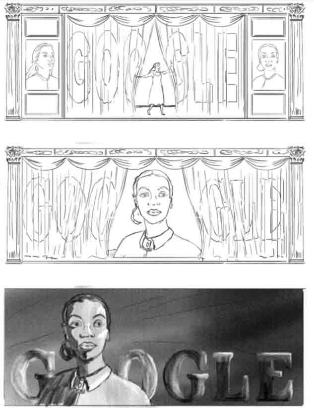 Os primeiros esboços do Doodle abaixo. Foto: Divulgação